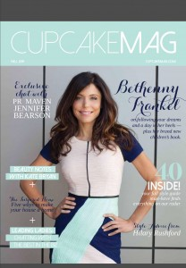 Cupcake Mag Cover with our feature